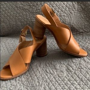 Madewell Ruthie Criss Cross Sandal in Leather